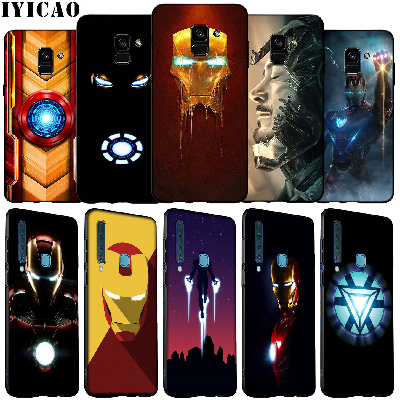 IYICAO Iron Man Marvel Ironman Soft Silicone Phone Case for Samsung Galaxy A6 A9 A8 A7 2018 A3 A5 2016 2017 Note 9 8 10 Plus image