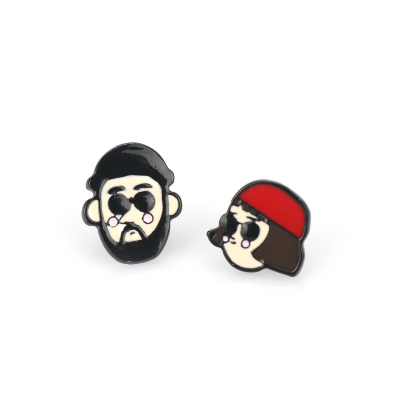 New Arrival Fashion Movie Classic Jewelry Earrings Cartoon Leon Expression Stud Earrings Female Gift image