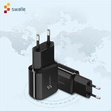 Swalle באיכות גבוהה נסיעות מטען 5V 2.4A האיחוד האירופי תקעים מטען לטלפון נייד חדש מטען usb carregador portatil smartphone