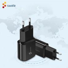 Swalle cargador de viaje de alta calidad 5V a cargador de enchufes de la UE para teléfono móvil nuevo cargador usb cargador portatil para smartphone