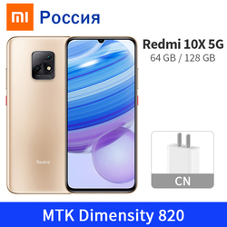 Xiaomi redmi 10x 5g celular 6gb 64gb/128gb 48mp câmera mtk dimensão 820 octa núcleo 4520mah 6.57
