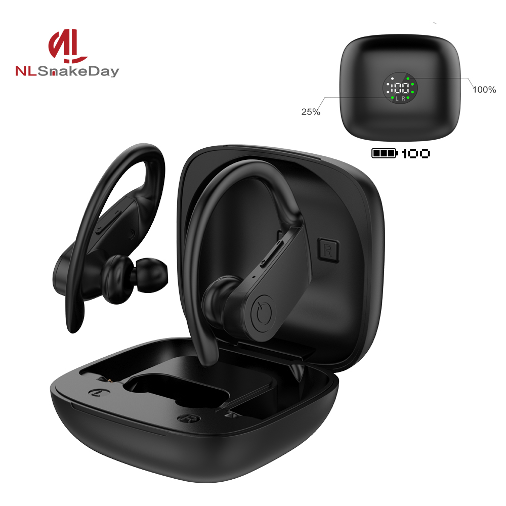NLSnakeDay 5.0V Wireless Earphones B11 Led Display Bluetooth Earphone TWS Stereo Earbuds Handsfree Sport Headset For Apple image