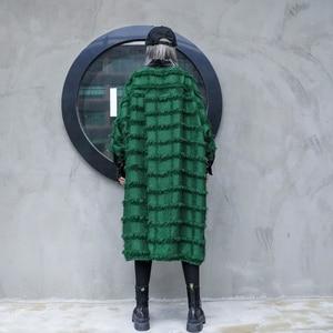 Image 2 - [EAM] Women Green Tassels Big Size Long Blouse New Lapel Long Sleeve Loose Fit Shirt Fashion Tide Spring Autumn 2020 1D618