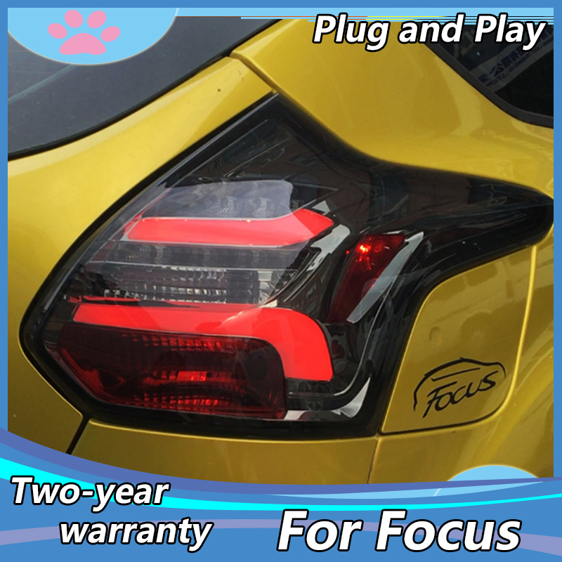 Dynamic Video for 2012 2013 <font><b>2014</b></font> year for <font><b>FORD</b></font> <font><b>Focus</b></font> 3 hatchback <font><b>LED</b></font> Strip Tail Lamp rear lights back light Red color TJ image