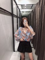 Zy05 2019 Summer New Products Printed Lotus Leaf Trimmed Decoration Cover up