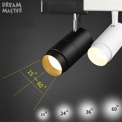 zoomable conduziu a luz da trilha 7 12 20 30 w cob lampadas da trilha