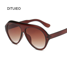 Black Shield Sunglasses Women Brand Designer Retro Frame Sun