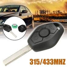 1pcs 3 Button Remote Car Key 315/433MHz ID44 Chip Auto For BMW 5 7 SERIES E38 E39 E46  EWS System