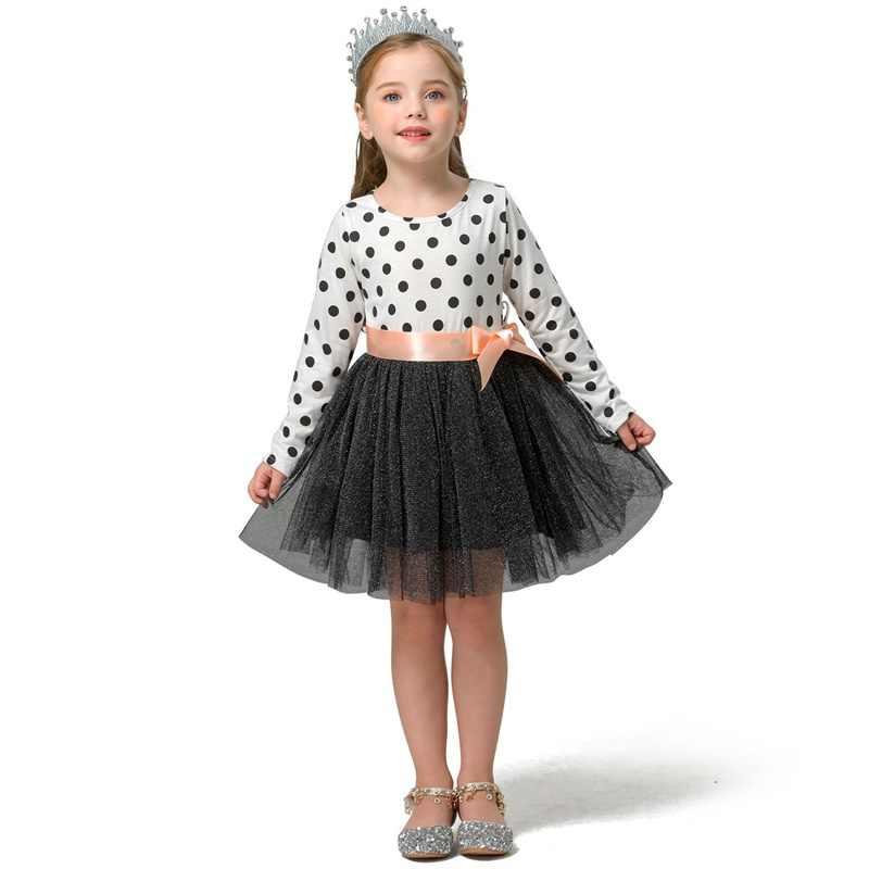Printemps automne manches longues enfants fille vêtements décontracté robe d'école pour filles mini Tutu robe enfants fille vêtements de fête vêtements