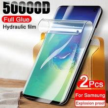 2Pcs Hidrogel Film Protector de Ecrã Para Samsung Galaxy S10 S20 S21 S9 S8 Plus S10E A50 A51 A71 A70 A10 M51 A30S Protetor de Tela