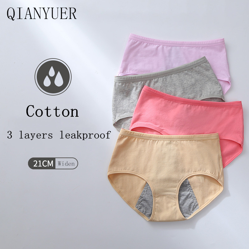 Leakproof Menstrual Panties Breathable Physiological Pants Sexy Women Underwear Period Waterproof Briefs Cotton Female Briefs