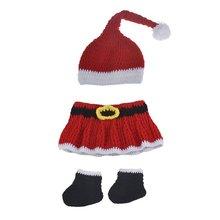 Вязаная Рождественская шапка для новорожденных детский костюм