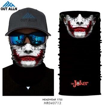 3D Joker Headband Braga Cuello Deadpool Bandana Buffs Clown Anonymous Seamless Balaclava Skull Motorcycle Face Mask Demon Scarfs 1
