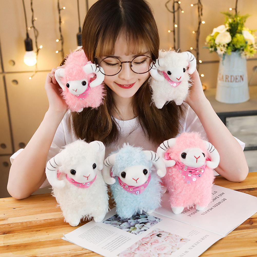 Simulation Plush Sheep Toy Stuffed Animal Lamb Goat Doll Toys Baby Kids Children Gift Home Decoration Craft Dropshipping