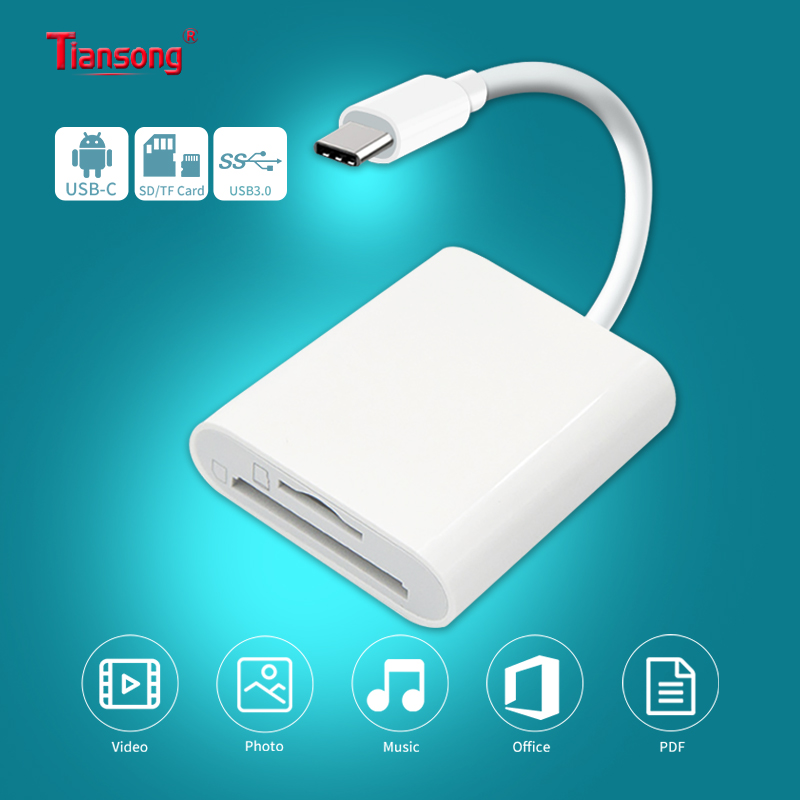 USB3.0 Transfer OTG Phone Aux Adapter USB C Type C To TF SD 2 In 1 Card Reader For Redmi Note 8 Pro Google Pixel One Plus 7t Pro