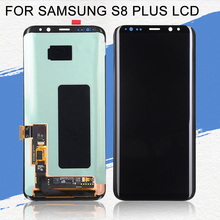 Dinamico For Samsung Galaxy S8 Plus LCD Display G955 G955F LCD With Touch Screen Digitizer Assembly Free Shipping+Tools ll trader black lcd display for samsung galaxy mega 6 3 i9200 touch screen digitizer bezel frame assembly tools free shipping