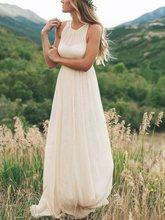 халат де Mariée простой Холтер пляж свадебные платья Boho летнее платье невесты платье 2020