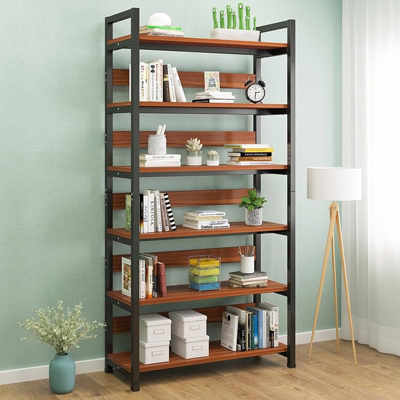 Multi-layer Bookshelf Floor-standing Book Potted Plant Storage Organizer Bookcase Rack Living Room Shelf Home Furniture