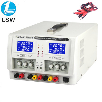 YIHUA 3005D-II Regulated Laboratory DC Power Supply Dual Channel Triple Output 30V 5A Voltage Regulators Adjustable Power Supply oubel high precision voltage regulated lab power supply 30v 10a 60v 5a power supplies adjustable voltage and current regulator