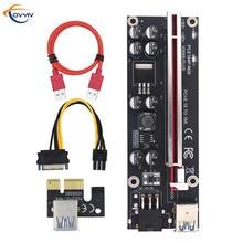 6 PCS COVYIV GPU PCIE/PCI E Riser 009S Plus card PCI E X16 PCI Express 6Pin to SATA 1X 16X USB3.0 Extender LED  Mining In Stock