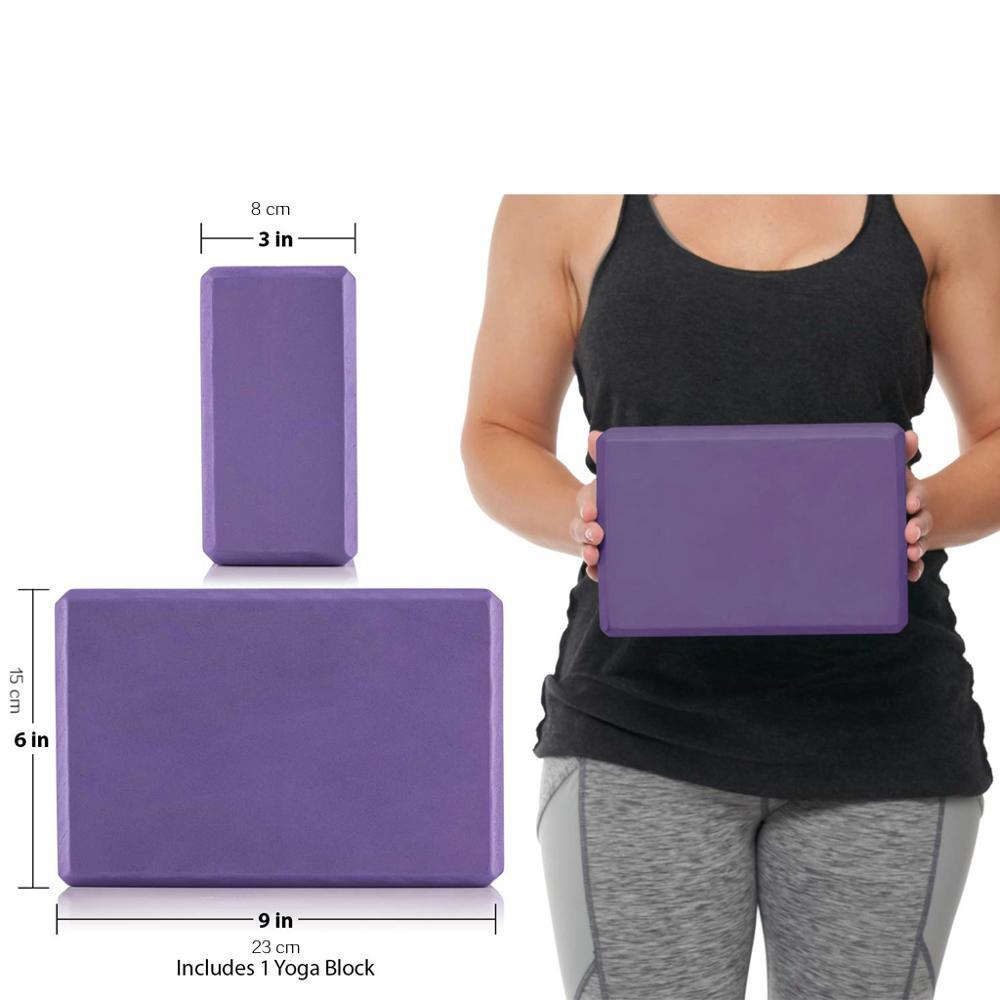Gym Fitness EVA Yoga Block Colorful Foam Block Brick for Crossfit Exercise Workout Training Bodybuilding Equipment 2