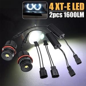 Image 5 - A pair of 80w single 40w 4LED Angel Eye Lights for BMW E39 E53 E60 E63