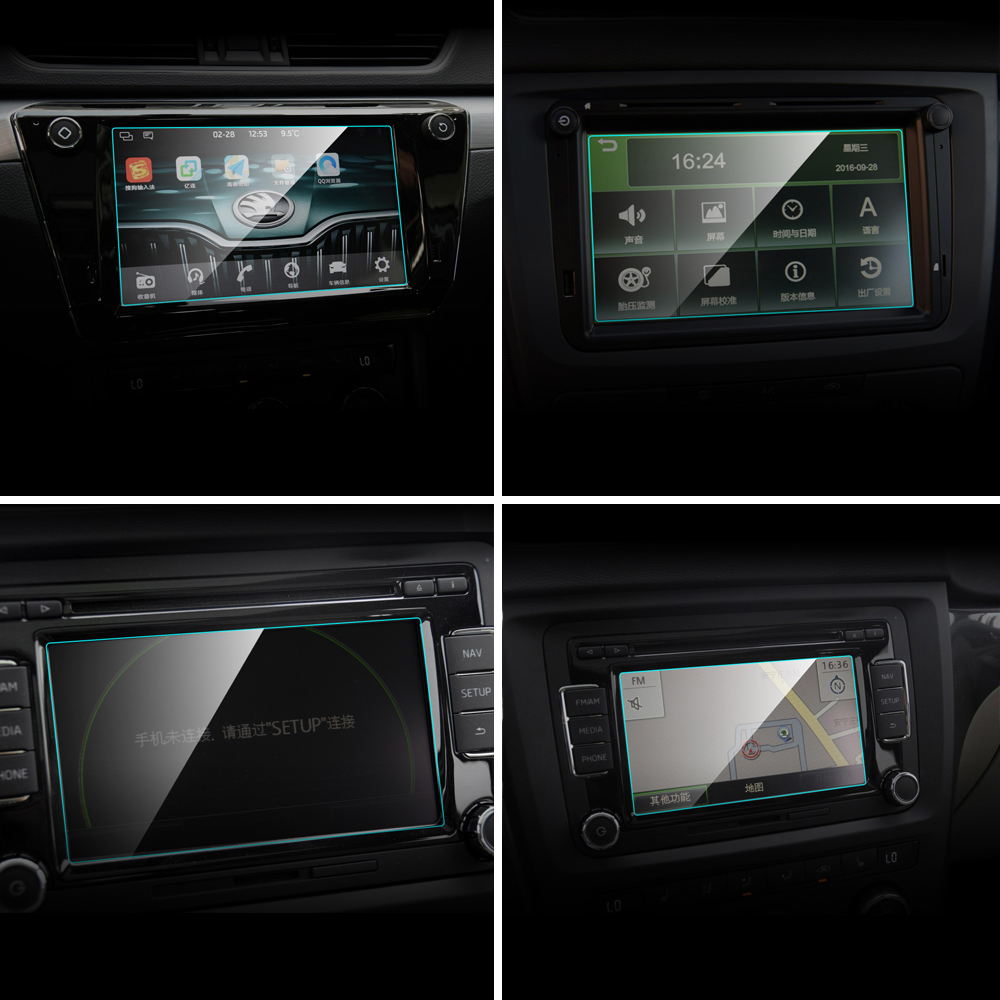 For Skoda Rapid Superb Yeti Spaceback Car GPS Navigation Screen Protector Tempered Glass Protective Film Auto Interior Access