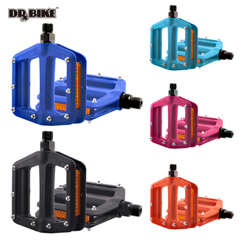 цена на Nylon Bicycle Pedals Ultralight Flat Platform Bike Pedals for Mountain Bike 9/16'' Cycling Sealed DU Bearing Pedals