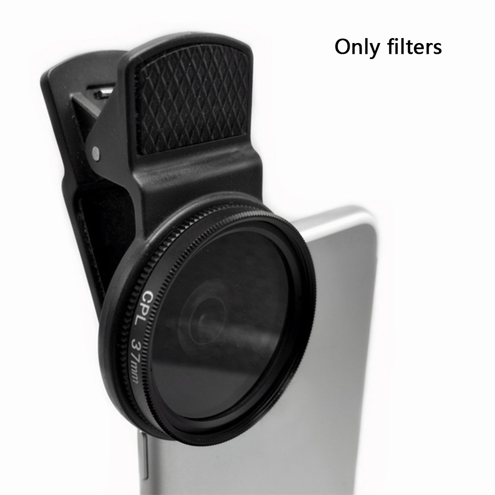 37MM Universal <font><b>Camera</b></font> Durable CPL <font><b>Filter</b></font> Lens Professional Circular <font><b>Phone</b></font> Polarizer Wide Angle With Clip Accessories Portable image
