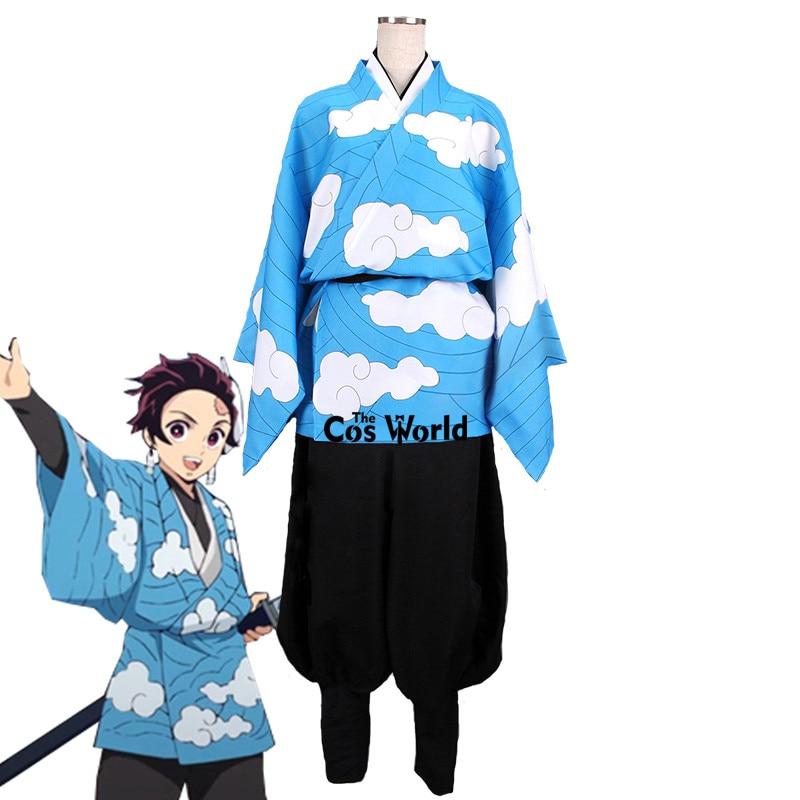 Demon Slayer: Kimetsu No Yaiba Kamado Tanjirou Urokodaki Sakonji Haori Kimono Yukata Uniform Anime Customize Cosplay Costumes