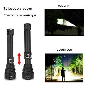 Image 5 - De helderste XHP90 LED Zaklamp Tactische waterdichte Torch 3 Verlichting modes Zoomable Jacht camping lampen Door 18650 of 26650