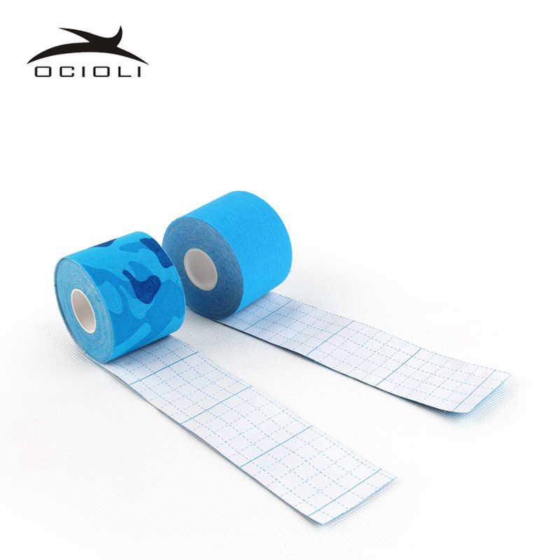 5cm su geçirmez Kinesiologe bant kinesiyoloji bandı basketbol diz kas elastik koruyucu bandaj spor dirsek desteği