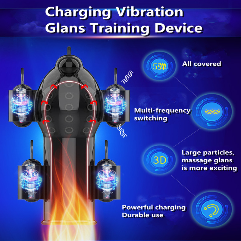 Electric Shock Glans Vibrators Ring For Male Masturbator Penis Delay Lasting Trainer Penis Massager Erotic Adult Sex Toy For Men in Ghost Exerciser from Beauty Health