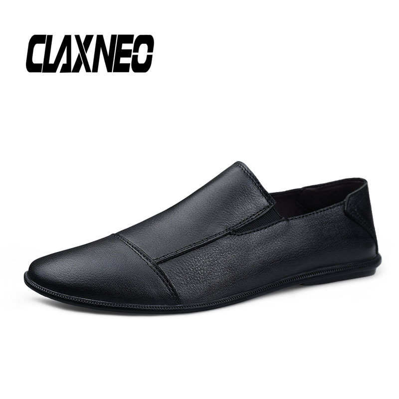 CLAXNEO Man Loafers Genuine Leather Male Moccasins Casual Shoes Slip on Mens Shoe Breathable