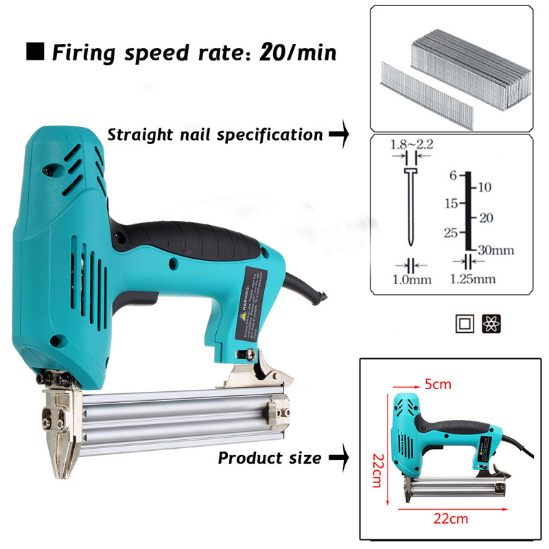 Image 5 - 220V 1800W Electric Staple F30 Single Straight Nail Gun 10 30mm Special Use 30/min Woodworking Tool Straight Gas Nail Gun-in Nail Guns from Tools on