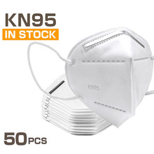 50 Pcs KN95 Masks 4 Layers Filter Dust Mouth PM2 5 Face Mask Flu Personal Protective