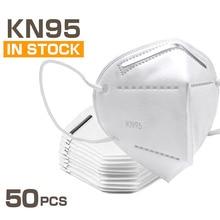 50 Pcs KN95 font b Masks b font 4 Layers Filter Dust Mouth PM2 5 font