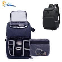 Su geçirmez DSLR kamera çantası fotoğraf kameraları sırt çantası taşınabilir seyahat Tripod Lens çantası Video çantası DSLR kamera Tablet PC dizüstü bilgisayar