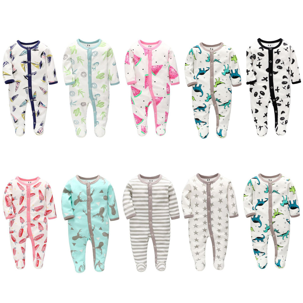 2019 New Baby Girl Boys Knitted Romper Fashion Newborn Jumpsuit Infant Cute Cartoon Animal Romper Outfits O-Neck Playsuit Roupas