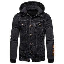 2020 Весенняя Съемная Толстовка для мужчин, повседневный стиль, мужские джинсы с капюшоном, куртки, верхняя одежда, брендовая мужская одежда, хлопковая джинсовая куртка для мужчин