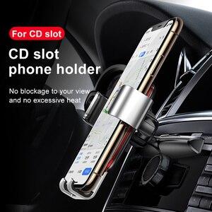 Image 2 - Baseus הכבידה רכב טלפון מחזיק עבור iPhone X Xs 78 סמסונג S9 אוניברסלי בתקליטור חריץ רכב מחזיק עבור נייד טלפון הר בעל