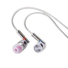 TinHiFi T4 Tin Audio w uchu Monitor słuchawki profesjonalny Hi Fi metalowy zestaw słuchawkowy Hifi przewodowe słuchawki Stereo Mmcx wymienny kabel
