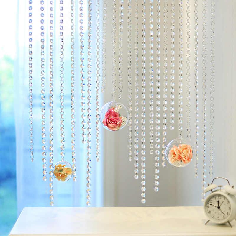 Rideau diymoderne de chambre à coucher de mariage, 5M, décoration d'intérieur, perles en cristal, guirlande, rideaux de fenêtre pour le salon