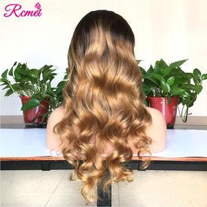 Image 3 - 13x4 светлые волнистые прозрачные #4/27 Омбре кружевные передние человеческие волосы парики предварительно выщипанные с ребенком волосы бразильские 150% Remy волосы парик