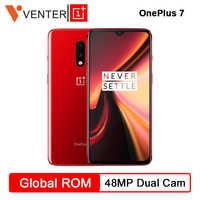"""Oneplus d'origine 7 Snapdragon 855 Octa Core Smartphone 6.41 """"AMOLED écran 48MP + 16MP double arrière 16MP caméras avant NFC téléphone Mobile"""
