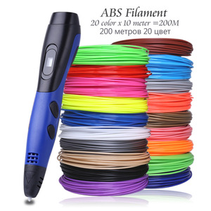 Image 2 - Original Model 3D Pen With 20 Color ABS Filament Plastic 3 D Printing Pens Creative Toy Birthday Gift For Kids Design Drawing