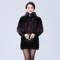 2020 New Winter Women Mink Coats Fashion Mink Collar Long Fur Coat High Quality Luxury Warm Outerwear Female Plus Size M 4XL