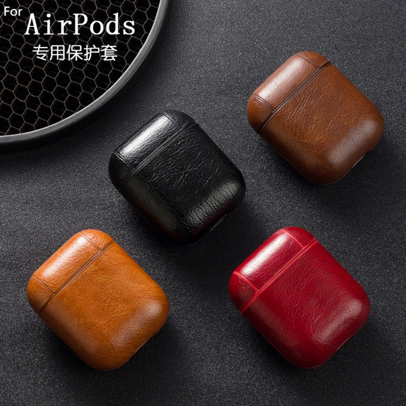 Wireless Bluetooth Headset IOS Charging Box Leather Earphone Cover Protective Case Hook For Airpods 1 2 Pro Iphone Popular Shape