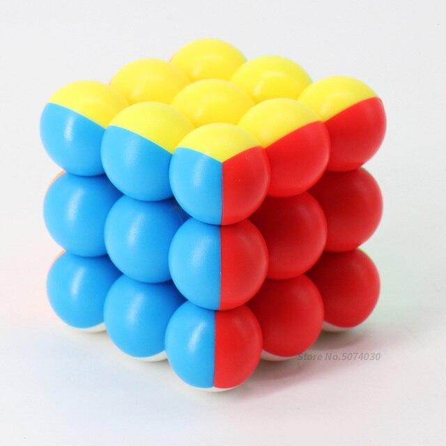 كرة مكعب 3x3x3 المكعب السحري 3x3 سرعة Yongjun لغز 60 مللي متر Stickerless المنافسة مكعبات لعب للأطفال الأطفال cubo