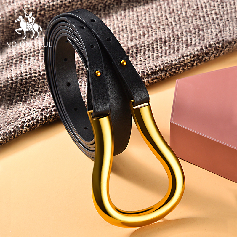 NO.ONEPAUL Genuine Leather Women Belt Luxury Brand Female Fashion Punk Belt Jeans Wild Belt For Women Waist Belts Free Shipping
